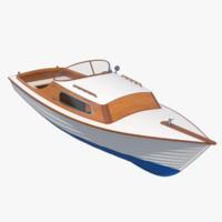 3d seal motorboat model