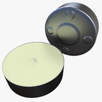 c4d tea light candle