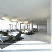 bar lounge 3d model