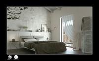 scene interior bedroom bed 3d c4d