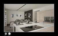 3d scene modern living room interior model