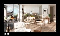 3d x scene modern living room interior