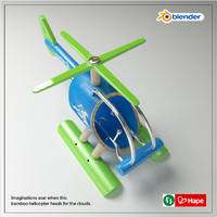 3d model bamboo helicopter