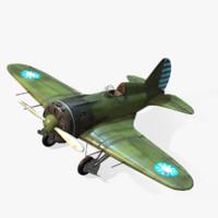 3d soviet polikarpov i-16 model