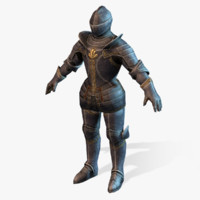 medieval horseman 3d model