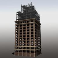 fbx modeled unfinished building