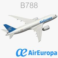 3d b788 air europa model