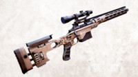 rifle remington 700 racs 3d max
