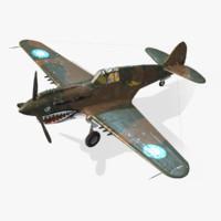 3d american p-40e