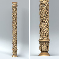 3d model carved column