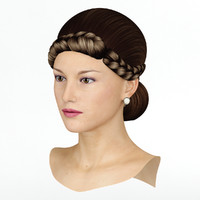 hair wig 3d model
