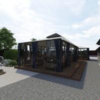 restaurant pavilion 3d model