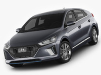 3d model hyundai ioniq 2017