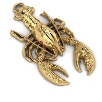 pendant crayfish 3d obj