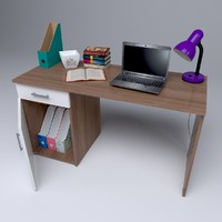 3d model of home office desk