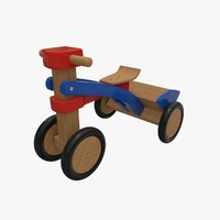 3d tricycle wood collada model