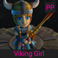 3d cartoon viking girl games