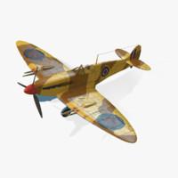 british spitfire mk vc 3d max