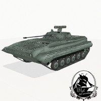 3d model bmp-2 second-generation amphibious