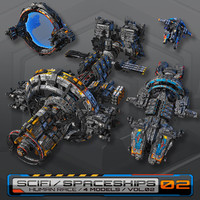 4 Low-Res Spaceships