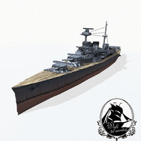 3d admiral-class battlecruisers model