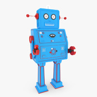 vintage robot 3d max