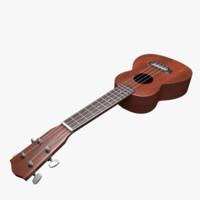 3d model ukulele