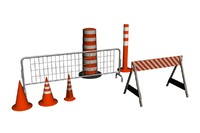 3d street barriers model