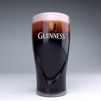 Guinness beer glass