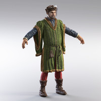 medieval merchant version 3d max