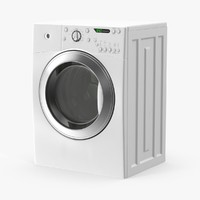 white loading washer 3d model