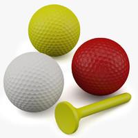 3d model of golf balls
