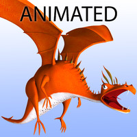 3d stylized dragon - animation