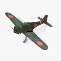 3d model ki-27 nate