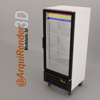 3d glass door refrigerator true