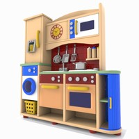 3d model kitchen toon