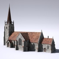 3d model english medieval church