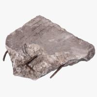 3d model concrete debris