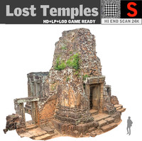 3d model of lost temples 24k
