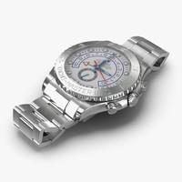 rolex yachtmaster ii platinum 3d model