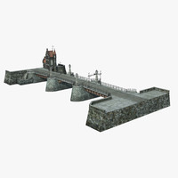 3d model of old bridge