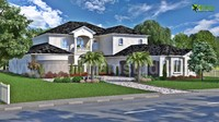 Modern Bungalow 3D Exterior Design with Landscap