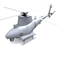 mq-8 scout helicopter mq-8b 3d max
