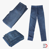 3d 3ds jeans design folded