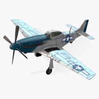 american p-51d mustang 3d model