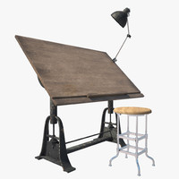 1910-American-Trestle-Drafting-Table