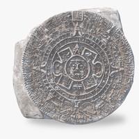 3d ancient mayan calendar