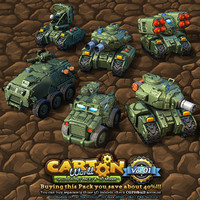 6 Low-Res Cartoon Ground Units