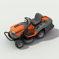 3d model riding lawn mower -