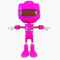 3d model of robot modelled